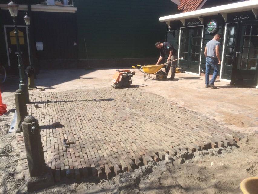 3 vervangen oude terras